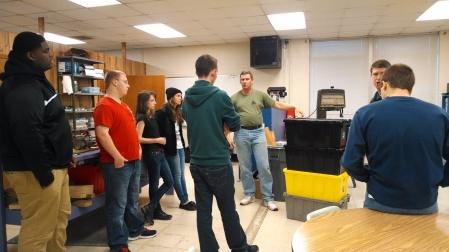 Mentor Paul Sullivan discussing possible strategies.